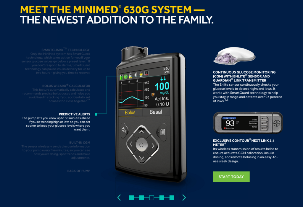 Insulin pumps - MiniMed® 630G Insulin Pump System
