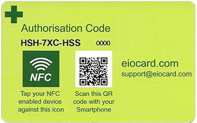 The back of the EOI smart card