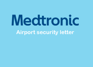 medtronic diabetes insulin pump airport security letter
