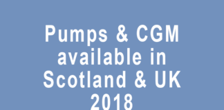 insulin pumps available in Scotland and UK 2018